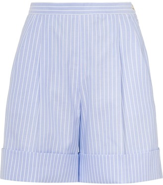 Miu Miu striped Oxford shorts