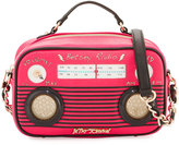 Betsey Johnson Kitsch Radio Crossbody Bag, Fuschia