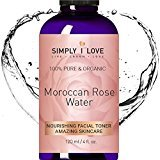 Simply I Love ORGANIC ROSE WATER TONER Spray for Face & Body. Soften Dry & Acne Prone Skin. Hydrate, Nourish & Revive - Amazing Skincare. Anti-Aging. Cruelty Free. SEE RESULTS or!