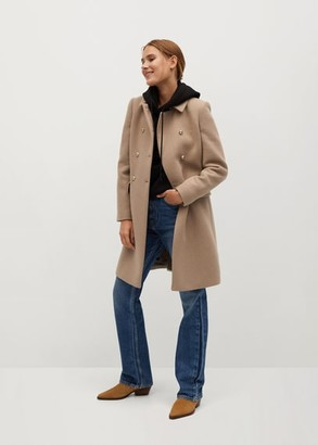 MANGO Wool double-breasted coat