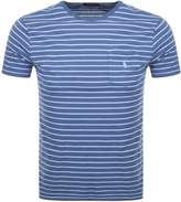 Ralph Lauren Stripe T Shirt Navy