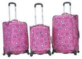 Rockland Fusion 3pc. Expandable Spinner Luggage Set - Pink Pearl