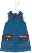 Little Marc Jacobs zip pocket denim dress - kids - Cotton/Polyester/Spandex/Elastane - 6 mth