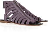 Acne Riviera suede zip sandals