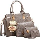 Janeyer® Janeyer 4 pieces Pu Leather Shoulder Bags Top Handle Cross Satchel Handbag Set