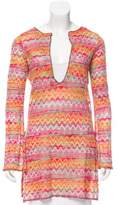M Missoni Chevron Long Sleeve Tunic