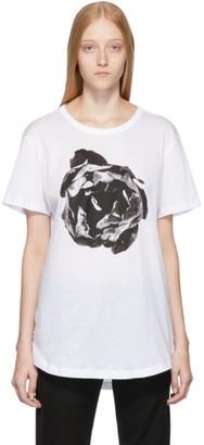 Ann Demeulemeester White Flower Print T-Shirt