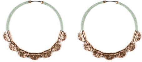 Molly M Designs Petal Earrings Mint