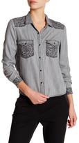 The Kooples Leopard Accent Shirt
