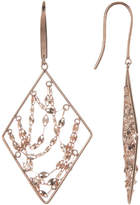 Lana 14K Rose Gold Diamond Webbed Earrings