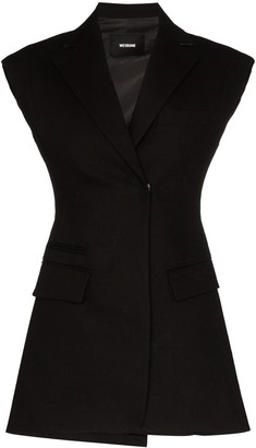 we11done Sleeveless Tailored Blazer