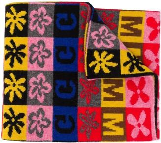 Molly Goddard Intarsia Knit Colour-Block Scarf