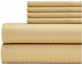 Manufacturer Stripe 700 Thread Count Premier 6-Piece Sheet Set, Gold, King