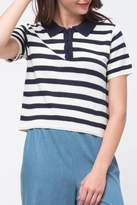 Movint Striped Crop Polo