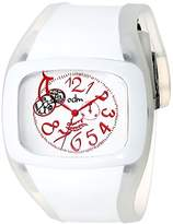 o.d.m. Women's DD100A-2 Play Series White and Pink Watch