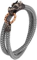 John Hardy Men's Legends Naga Nylon Cord Wrap Bracelet, Gray
