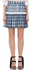 Chloé WOMEN'S PLAID SILK GEORGETTE MINISKIRT