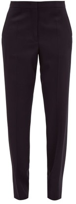 Jil Sander Tailored Virgin Wool-twill Trousers - Navy