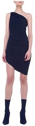 KAMALIKULTURE by Norma Kamali Diana Mini Dress (Black) Women's Clothing