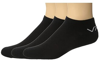 Vans Classic Low 3-Pair Pack (Black) Men's No Show Socks Shoes