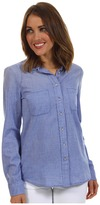 Calvin Klein Jeans Fitted Chambray L/S Shirt (Ultra Blue) - Apparel
