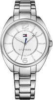 Tommy Hilfiger Silver Bracelet Watch With White Face