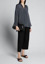 eskandar Silk Wide A-Line Shirt