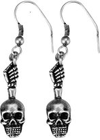 Summit Skull Hand Earrings - Collectible Jewelry Accessory Dangle Studs Jewel