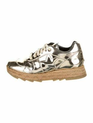Stella McCartney Macy Metallic Platform Sneakers Gold