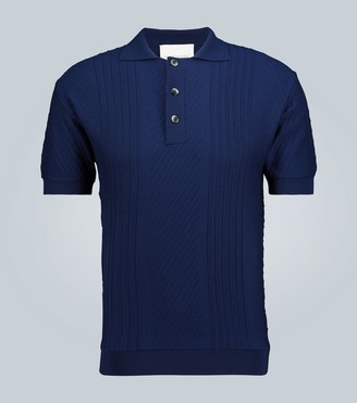 King And Tuckfield Knitted merino polo shirt