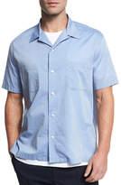 Vince Cabana Italian Cotton Short-Sleeve Shirt, Vintage Blue