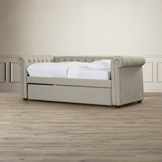 BEIGE House of Hampton Shoreham-by-Sea Twin Daybed with Trundle House of Hampton Color