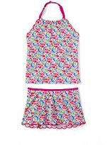 Classic Girls Plus Size Tankini Swimsuit Set-Coral Reef