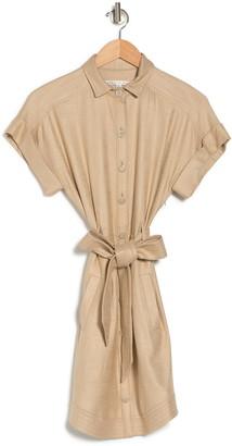 Veronica Beard Sadia Belted Mini Shirtdress