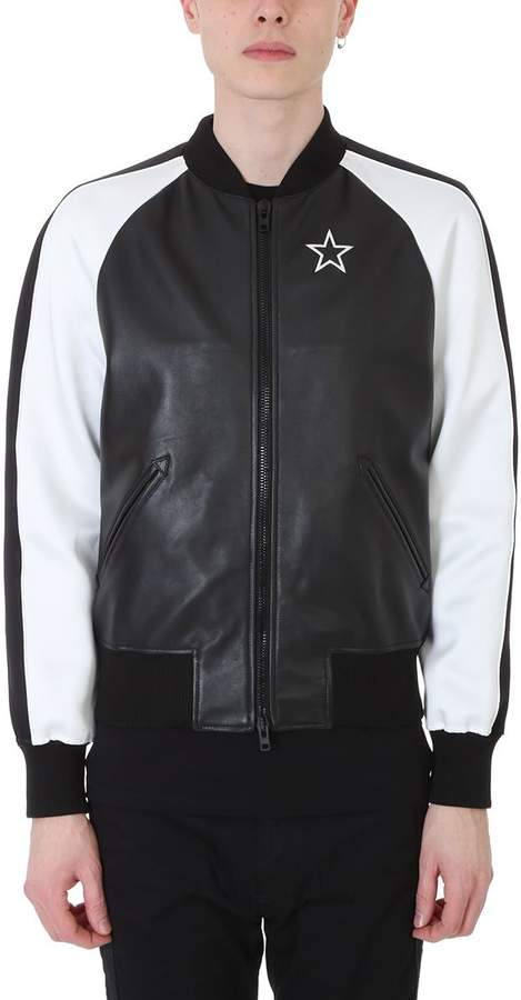 Givenchy Black And White Leather Jacket