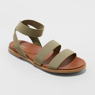 Universal Thread Women's Paisley Elastic Ankle Strap Sandals - Universal Thread*