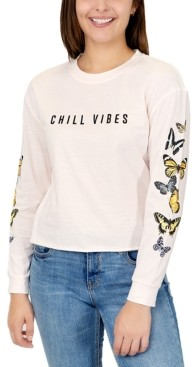 Rebellious One Juniors Chill Vibes Graphic Print Cotton Top
