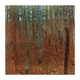 Gustav 1art1 Posters Klimt Poster Art Print - Forest Of Beeches (20 x 16 inches)