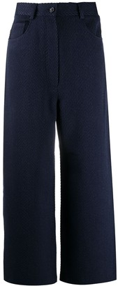 Acne Studios Flared High-Waisted Twill Trousers