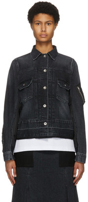 Sacai Black Denim MA-1 Jacket