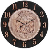 Lazy Susan 24 in. Bronze, Aged Parchment Wall Clock
