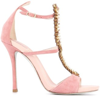 Rene Caovilla embellished strappy sandals