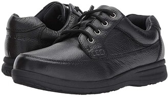 Nunn Bush Cam Oxford Casual Walking Shoe (Black Tumbled Leather) Men's Lace up casual Shoes