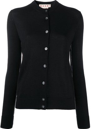 Marni contrasting trim V-neck cardigan