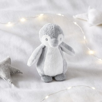 The White Company Snowy Penguin Small Toy, White Grey, One Size