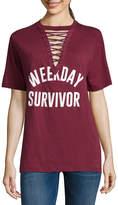 Freeze Weekday Survivor Lace Up Tee - Junior