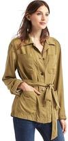 Gap TENCEL tie-belt utility jacket