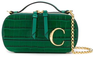 Chloé C crocodile-effect crossbody bag