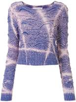 Faith Connexion tie-dyed cropped sweater