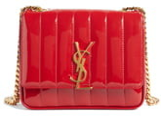 Saint Laurent Small Vicky Patent Leather Crossbody Bag